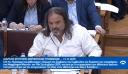 Ο Πρόεδρος του Σ.Ο.Α.Α. Μάριος Ηλιόπουλος στα έδρανα της Βουλής