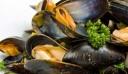 Μύδια αχνιστά με ρετσίνα, σκόρδο και δεντρολίβανο