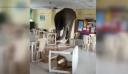 Βεγγάλη: Ελέφαντας μπαίνει σε στρατιωτική καντίνα και τον κυνηγούν με φλεγόμενο πυρσό