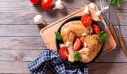 Κοτόπουλο με μέλι, ντοματίνια και βασιλικό