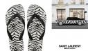 Saint Laurent x Havaianas: Η στιγμή που συνειδητοποιήσαμε ότι οι ζεμπρέ σαγιονάρες είναι το It item της σεζόν