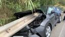 Φρίκη στη Ρόδο: Προστατευτικό κιγκλίδωμα διαπέρασε αυτοκίνητο