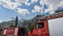 Μεγάλη φωτιά στα Ψαρά καίει χορτολιβαδική έκταση