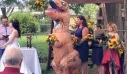 Παράνυμφος σε γάμο εμφανίστηκε ντυμένη… δεινόσαυρος