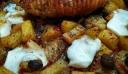 Ρολό κοτόπουλο με πατάτες και μανιτάρια στον φούρνο !!!