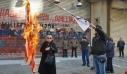 Έκαψαν σημαία των ΗΠΑ έξω από το αμερικανικό προξενείο στη Θεσσαλονίκη