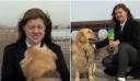Ρωσία: Γκόλντεν Ριτρίβερ κλέβει το μικρόφωνο ρεπόρτερ σε live μετάδοση – Δείτε βίντεο