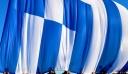 Κυματίζει από το πρωί στη Χίο η γιγαντιαία ελληνική σημαία