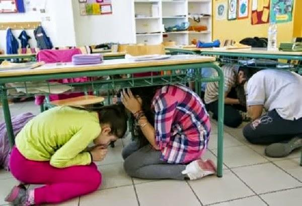 Άσκηση σεισμού στο 25ο Δημοτικό Σχολείο με τη συνεργασία της 6ης Ε Μ Α Κ – Αχαΐα