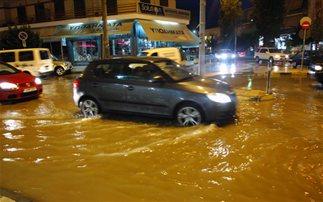 Κλειστοί δρόμοι στη Θεσσαλονίκη εξαιτίας της κακοκαιρίας
