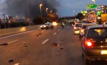 Σοκαριστικό βίντεο από την έκρηξη του Smart στην Αττική Οδό… [βίντεο]