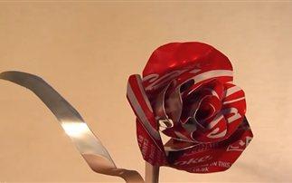 Φτιάχνοντας τριαντάφυλλο από ένα κουτάκι αναψυκτικού