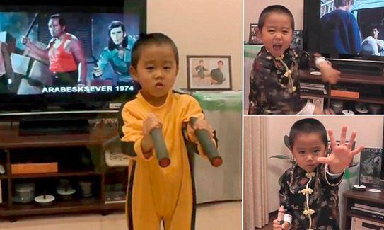 Απίστευτο!! Ο 4χρονος μίνι Bruce Lee δείχνει τις ικανότητες του!! (βίντεο)