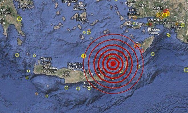 Σεισμός 5,3 ρίχτερ κοντά στην Κάσο