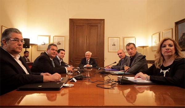 Κοινό ανακοινωθέν υπέγραψαν οι πολιτικοί αρχηγοί – Εξαίρεση ο Κουτσούμπας