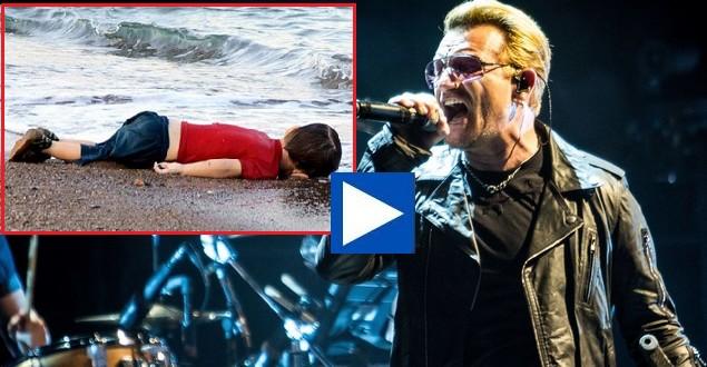 Ο Bono τραγούδησε για τον μικρό Αϊλάν Κουρντί από τη Συρία (βίντεο)