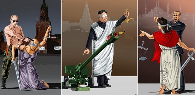 ΤΕΛΕΙΟ!! Σκιτσογράφος δείχνει μέσα από σκίτσα του τη δικαιοσύνη σε 12 χώρες!! (Pics)