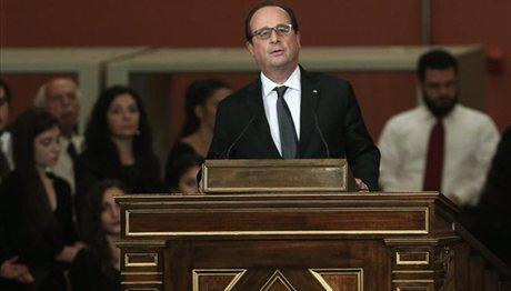 Φρ. Ολάντ: «Οι συμφωνίες ενισχύουν τη φιλία Ελλάδας – Γαλλίας»