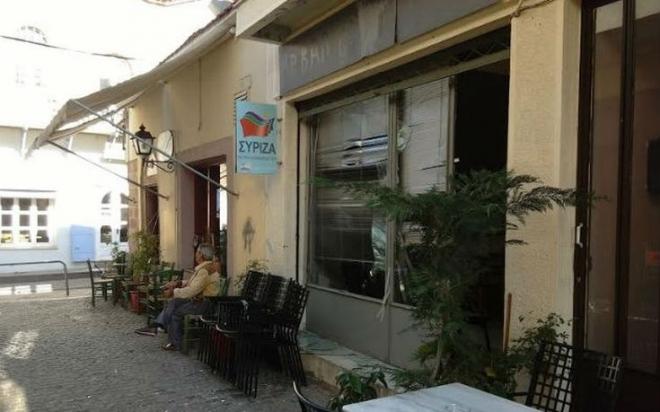 Διπλή επίθεση στα γραφεία του ΣΥΡΙΖΑ στη Μυτιλήνη