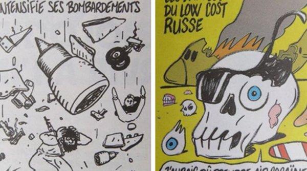 Σάλος με σκίτσα του Charlie Hebdo που σατιρίζουν τη συντριβή του ρωσικού Airbus