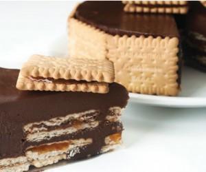Εύκολη τούρτα με σοκολάτα και μπισκότα πτι-μπερ…!