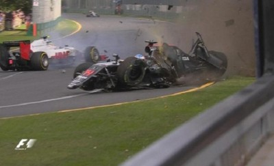 Φοβερή σύγκρουση του Αλόνσο με τον Γκουτιέρες στο πρώτο GP της χρονιάς ( Βίντεο)