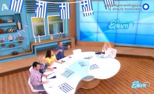 Ελένη Μενεγάκη: Πνίγηκε πριν καν ξεκινήσει η εκπομπή (VIDEO)