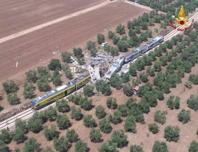 Ανείπωτη τραγωδία στην Ιταλία-Τουλάχιστον 20 νεκροί από σύγκρουση τρένων