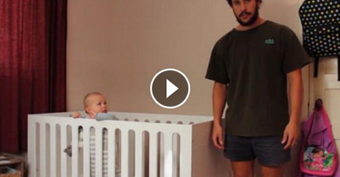 Αυτός ο μπαμπάς δείχνει τους τρόπους για να βάλεις ένα μωρό για ύπνο! (video)