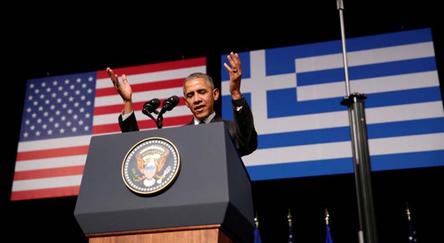 «Ζήτω η Ελλάς»: Ετσι έκλεισε την ομιλία του για τη δημοκρατία ο Ομπάμα