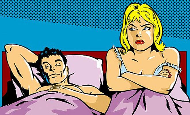 Ανέκδοτο: Η σύζυγος πιάνει το σύζυγο με άλλη στο κρεβάτι