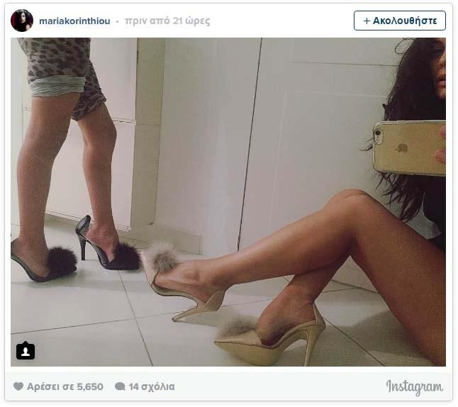 Μαρία Κορινθίου: Δοκιμάζει ψηλοτάκουνα μαζί με την κόρη της (φωτό)