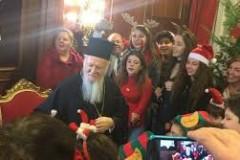 Ζωγράφειο Σχολείο Κωνσταντινούπολης: «Έψαλαν» τα κάλαντα στον Πατριάρχη Βαρθολομαίο