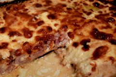 Μελιτζάνες -μπέικον -γκούντα στον φούρνο – άλλο πράγμα γεύση !!!