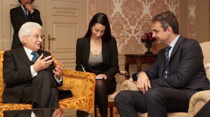 Για μεταναστευτικό, κρίση και ευρωσκεπτικιστές, στη συνάντηση Μητσοτάκη-Ματαρέλα
