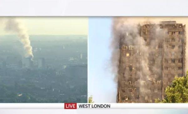 Λονδίνο: Καίγεται ουρανοξύστης και κινδυνεύει να καταρρεύσει – Υπάρχουν εγκλωβισμένοι (ZΩΝΤΑΝΗ ΕΙΚΟΝΑ)