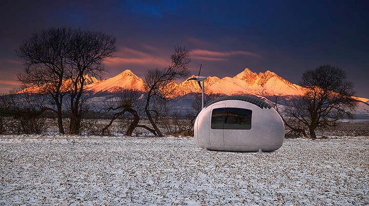 Ecocapsule: Ένα μικροσκοπικό, κινητό και αυτοσυντηρούμενο σπίτι