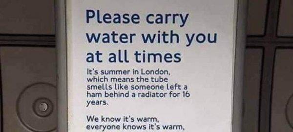 Η viral ανακοίνωση στο μετρό του Λονδίνου που θα ήταν χρήσιμη και για τον ΟΑΣΘ (φωτό)
