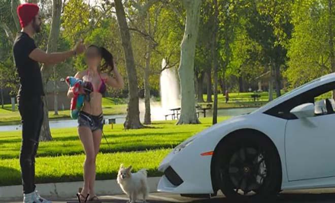 Απίστευτη σκηνή: Πώς αντιδρά μια παντρεμένη όταν το «καμάκι» οδηγεί Λαμποργκίνι! [Βίντεο]