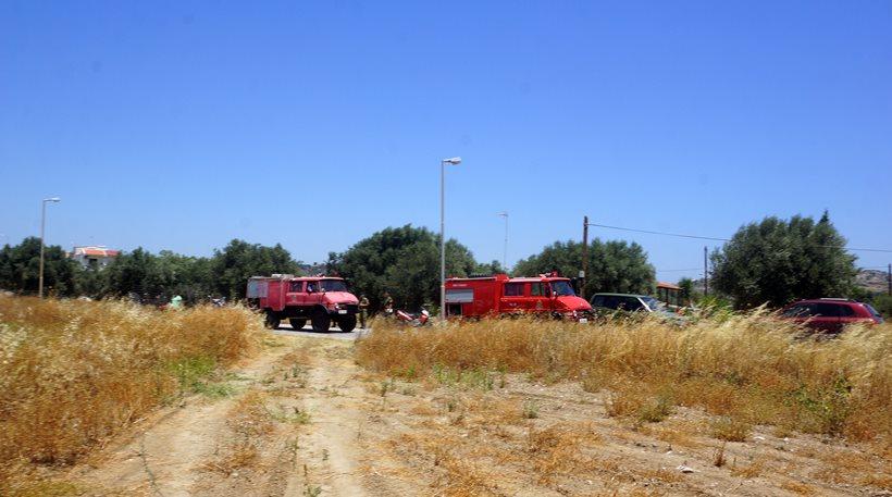Υπό μερικό έλεγχο πυρκαγιά στο Μύρτο Ιεράπετρας