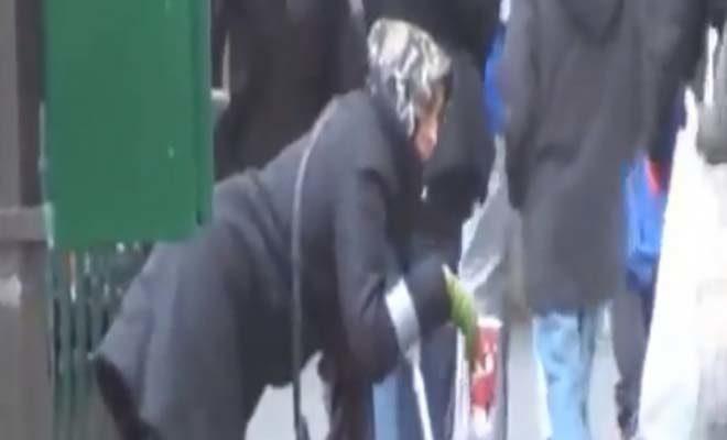 Nεαρή «ανάπηρη» ζητιάνα πετάει τα ρούχα μετά τη δουλειά και γίνεται κουκλάρα (ΒΙΝΤΕΟ)