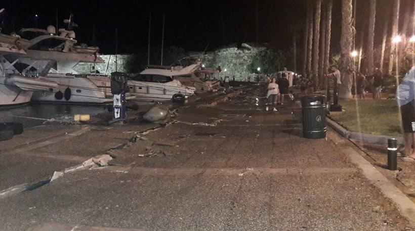 Κως: Κλειστό το λιμάνι, λειτουργικό κρίθηκε το αεροδρόμιο, τεράστιες οι ζημιές σε κτίρια