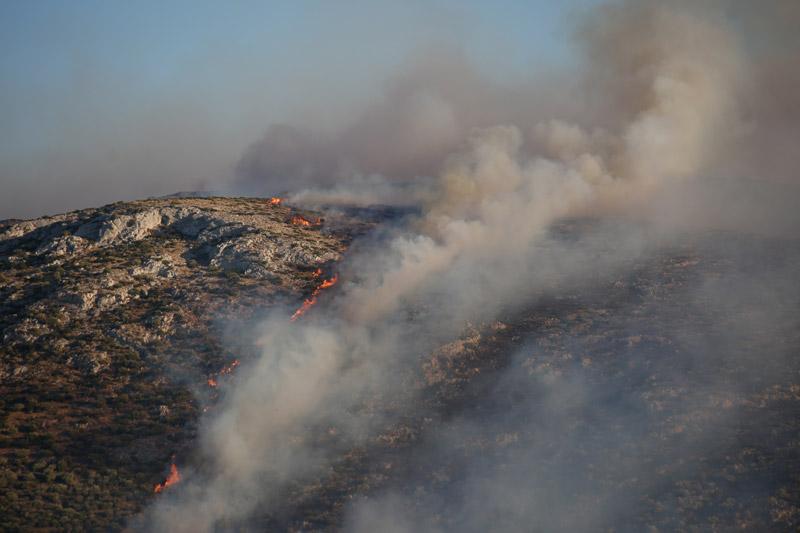 Νέα εστία φωτιάς κοντά σε σπίτια στην Ανάβυσσο