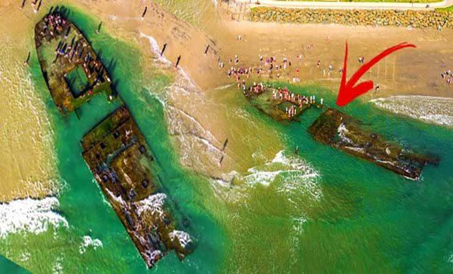 Αυτό το Πλοίο Ναυάγησε Πριν από 80 Χρόνια! Σοκαρισμένοι οι Λουόμενοι στην Παραλία δεν Πίστευαν ότι…