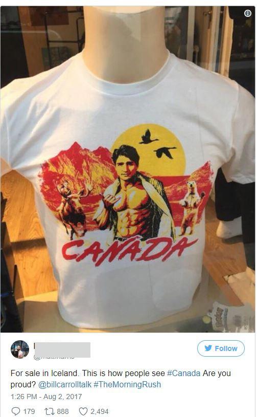 Viral έγινε η μπλούζα με τον Τζάστιν Τριντό [φωτο]