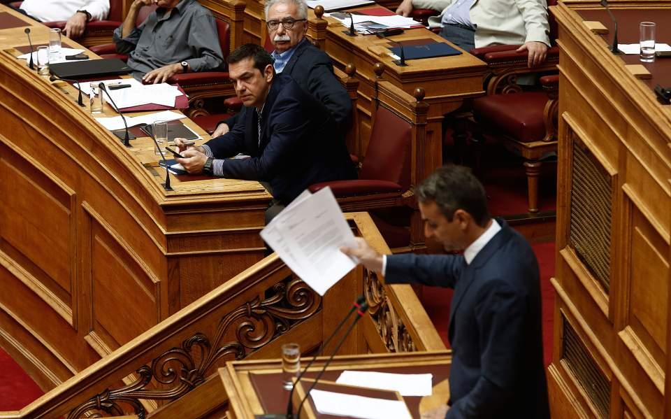 Μετωπική σύγκρουση Τσίπρα – Μητσοτάκη στην Βουλή για την Παιδεία