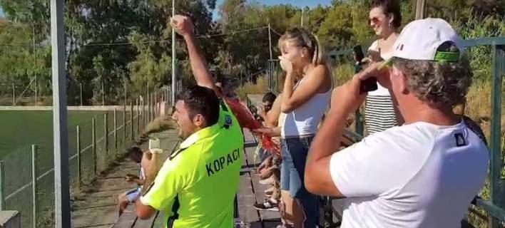 Μοναδική πρόταση γάμου σε γήπεδο των Χανίων [βίντεο]