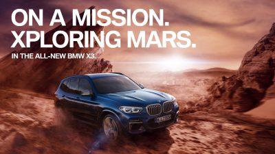 """""""On a Mission"""": Η BMW X3 ταξιδεύει στον Άρη"""