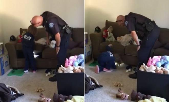 4 ετών κάλεσε την αστυνομία για να ελέγξει αν υπάρχουν τέρατα κάτω από το κρεβάτι της