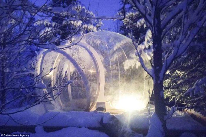 Ξενοδοχείο στην Ισλανδία προσφέρει διαμονή στους πελάτες του μέσα σε διάφανη φούσκα